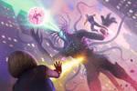 marvel vs lovecraft by AlMaNeGrA