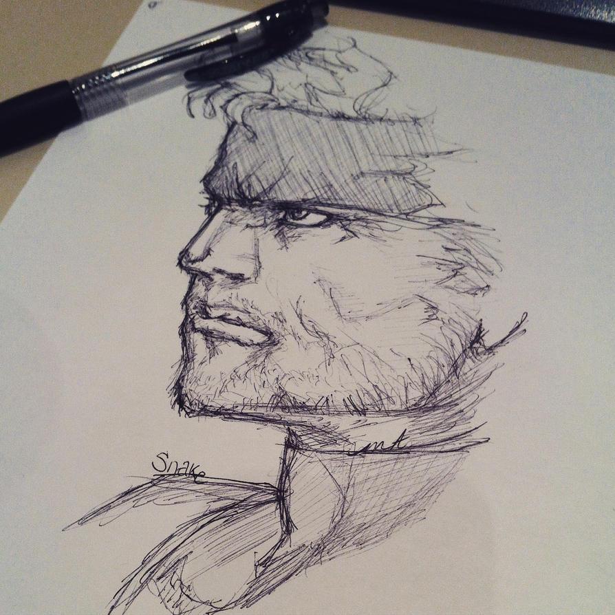 Metal Gear Solid Fanart. Snake by MageAlmasy8