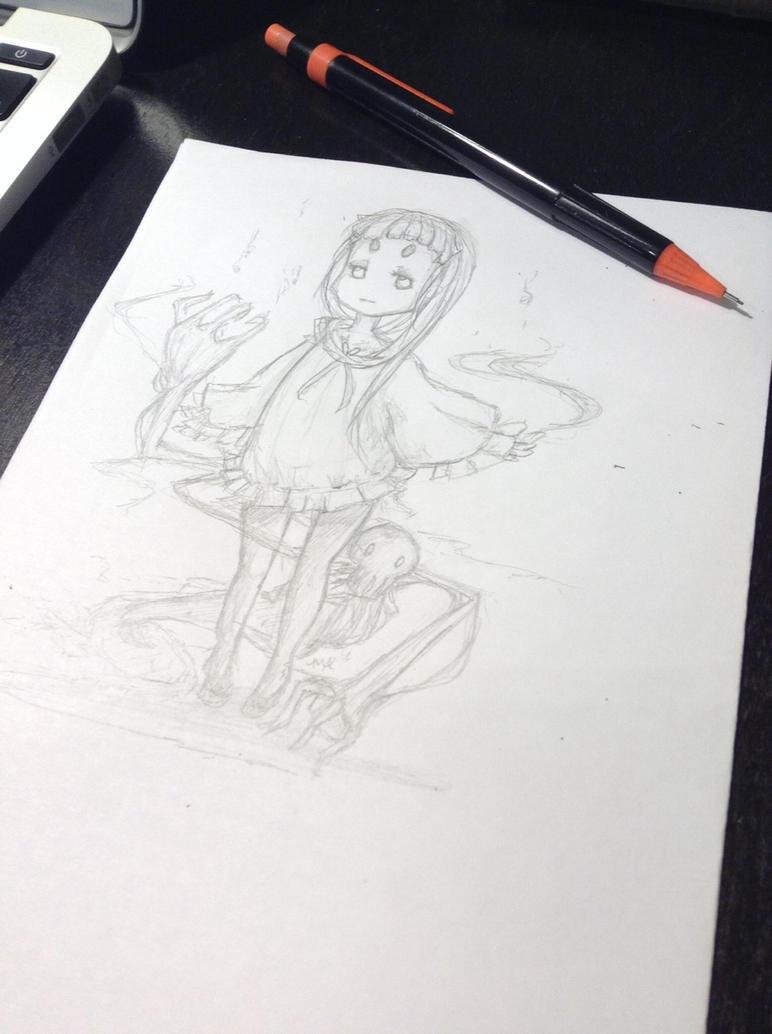 Gaiaonline avatar sketch by MageAlmasy8