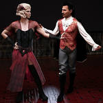Dorian and Mae paint the town red by Verfallen02