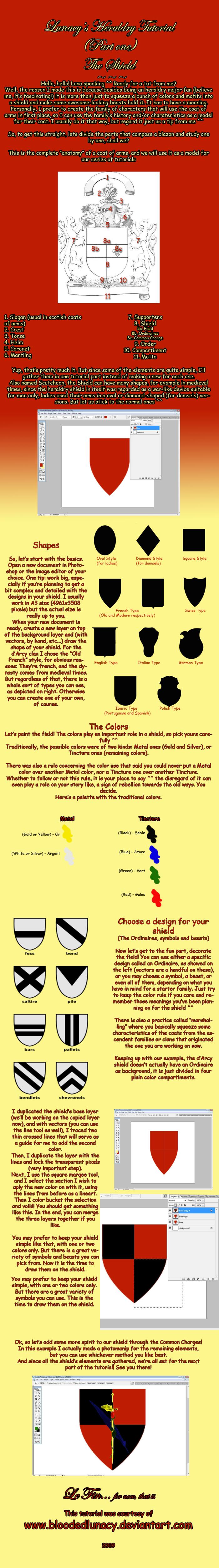 Tutorial on Heraldry - Part 1 by BloodedLunacy