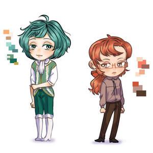 Character Art: Chibi Mefy and OC