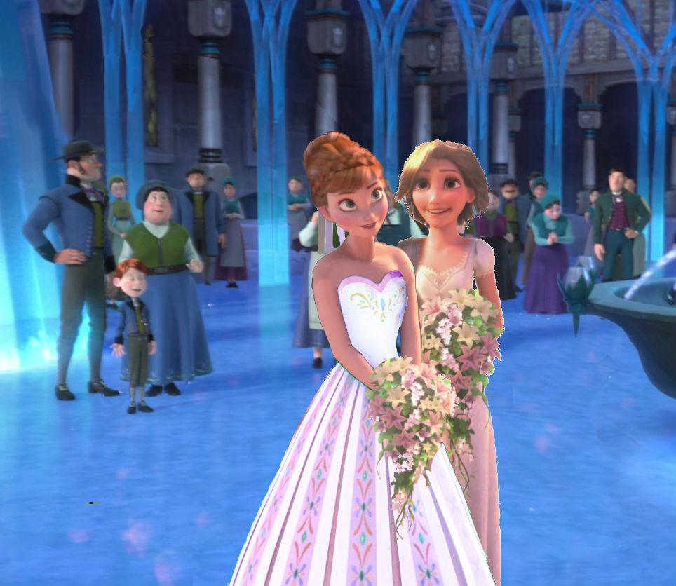Anna kissing wedding