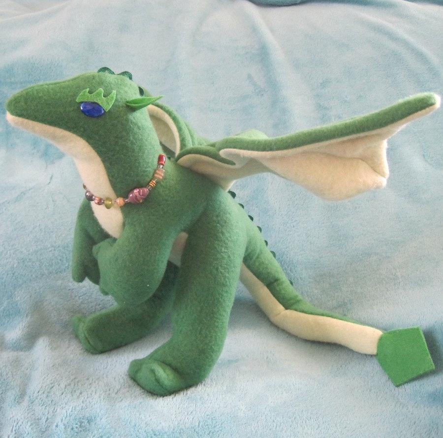 Peridot the Stuffed Dragon