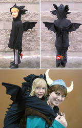 A little Toothless Costume