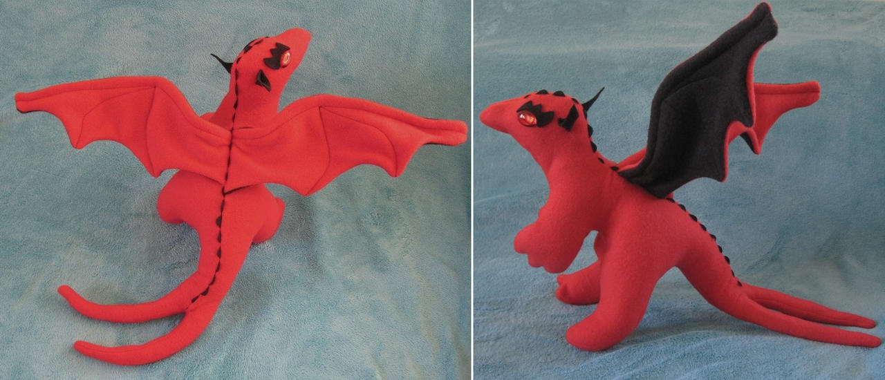 Commissioned Forklift Stuffed Dragon by Skylanth