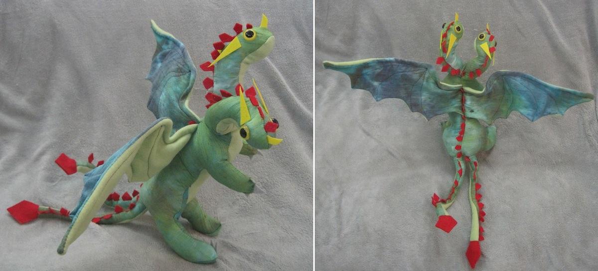 Stuffed Hideous Zippleback Dragon by Skylanth on DeviantArt