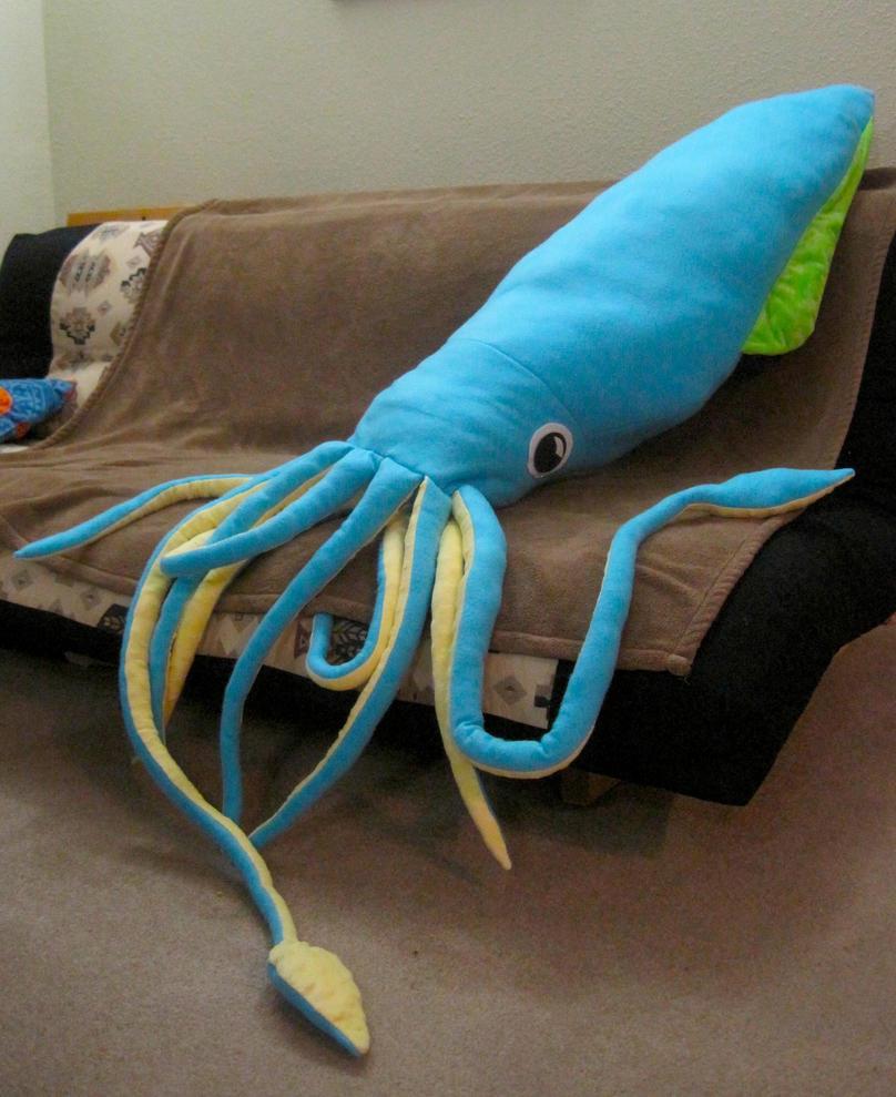 Giant Squid Giant Plushie by Skylanth on DeviantArt
