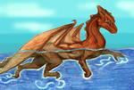 A swimming dragon