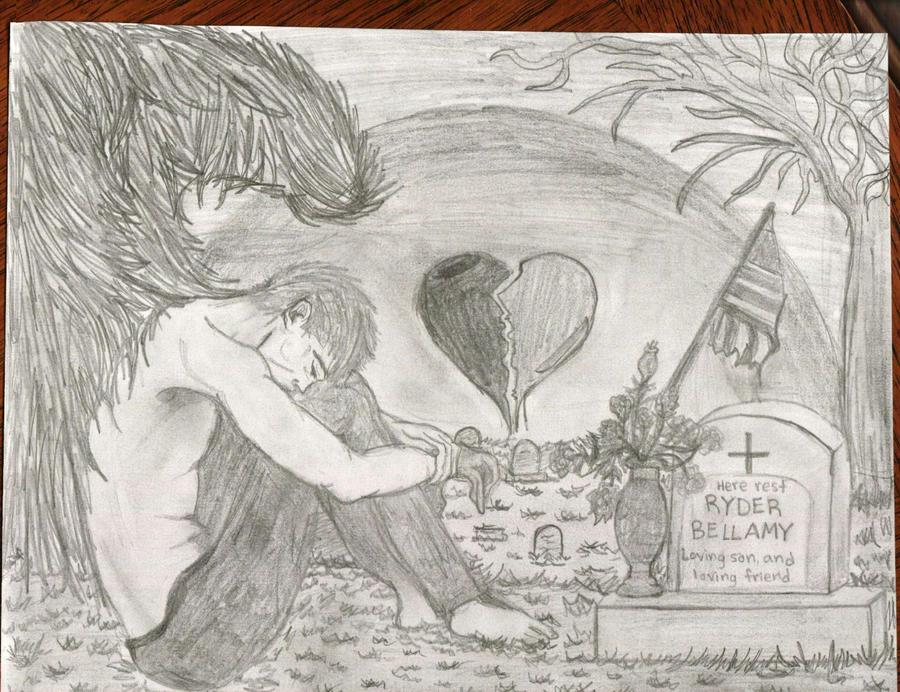 depressed angel drawings - photo #36