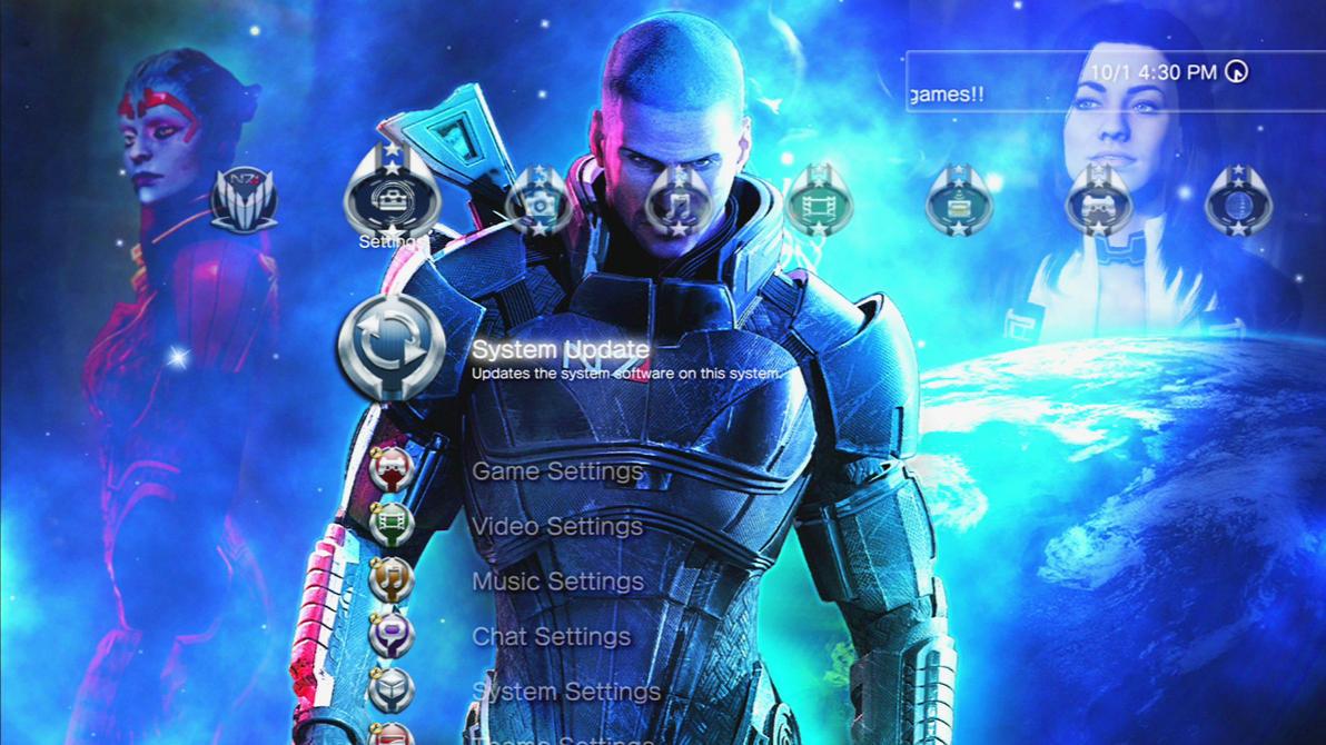 MS Mass Effect 3 Slideshow Theme (PS3) by MrJuniorer