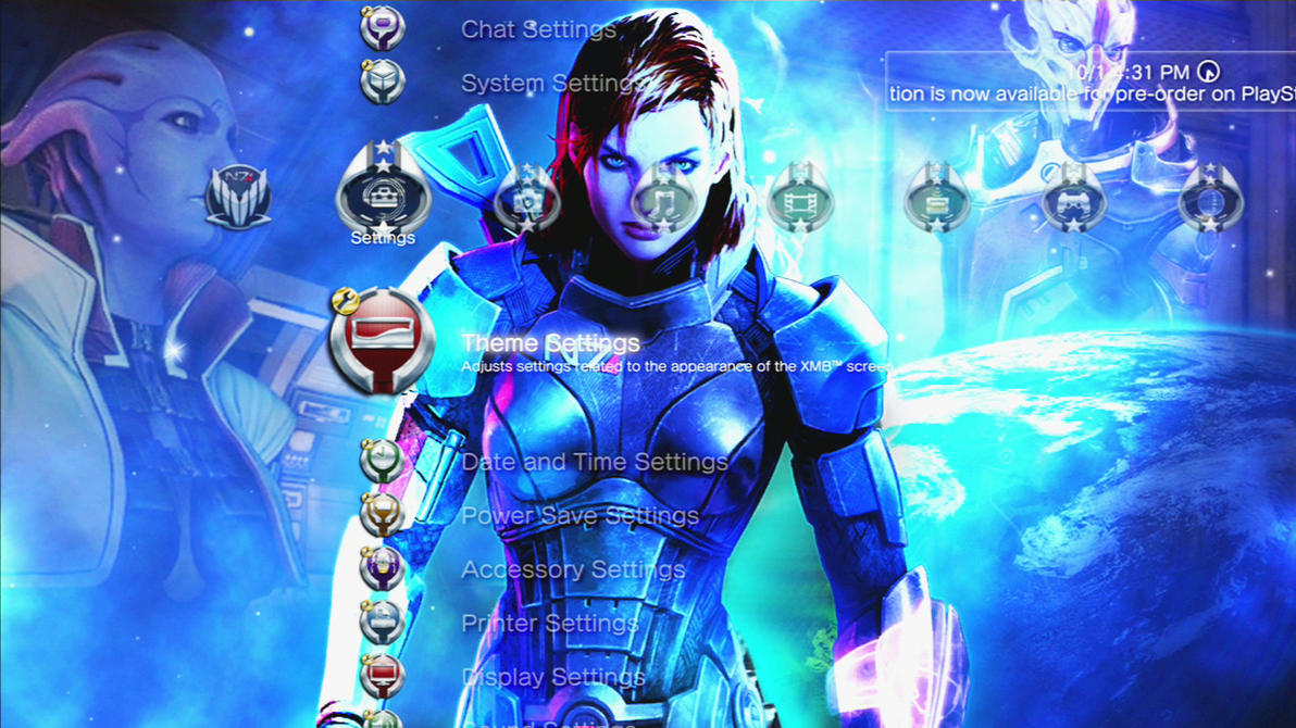 FS Mass Effect 3 Slideshow Theme (PS3) by MrJuniorer