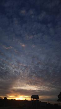 California Sunset at a Playground