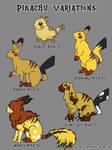 Pikachu Varieties