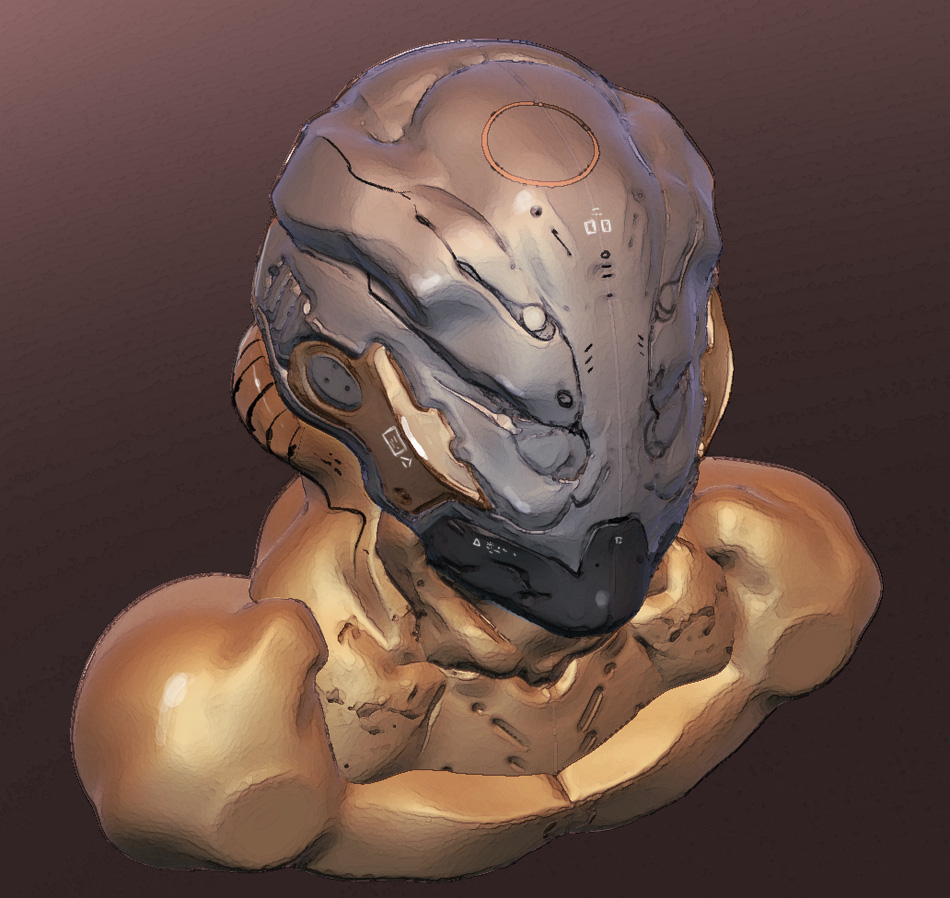 Sculptris Test: Cyborg head. by IgnusDei on DeviantArt