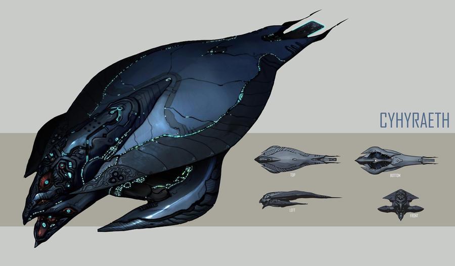 Cyhyraeth Battleship by IgnusDei