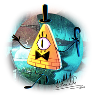 Bill Cipher by AndyFireLife