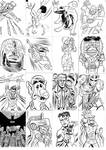 sketch cards 01 by LeighWalls-Artist