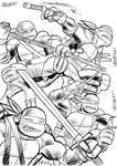 sketch cards ninja turtles by LeighWalls-Artist