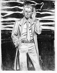 John Constantine line art drawing