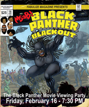 Poster for The MSAB Black Panther Viewing Party