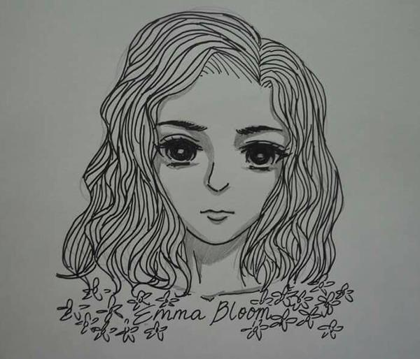Inktober #1: Emma Bloom by Skottanze