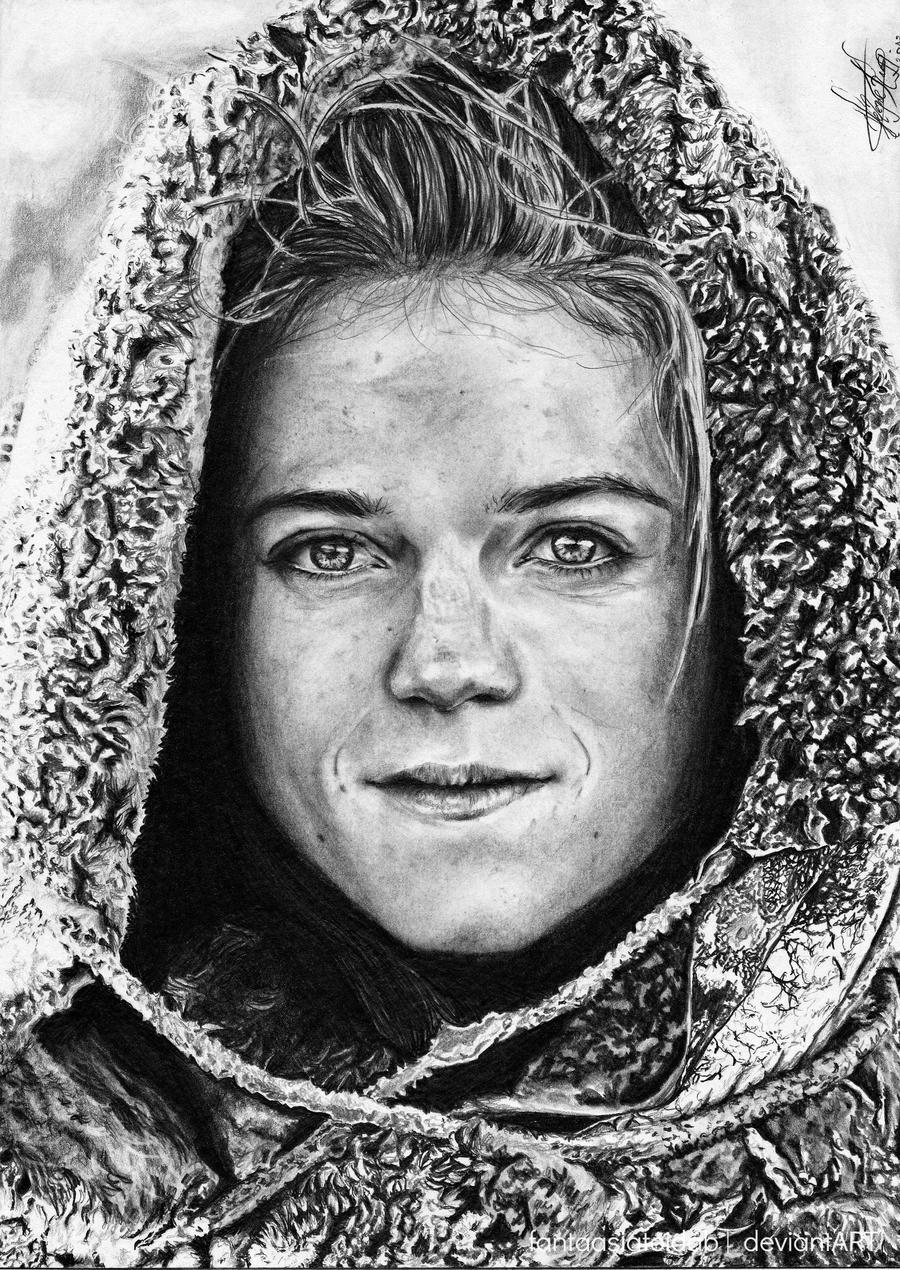 PERSONAJES.......... Ygritte__you_know_nothing__jon_snow__by_fantaasiatoidab-d53g9li