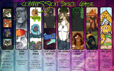 Commission Prices - 2017 by alaitallon