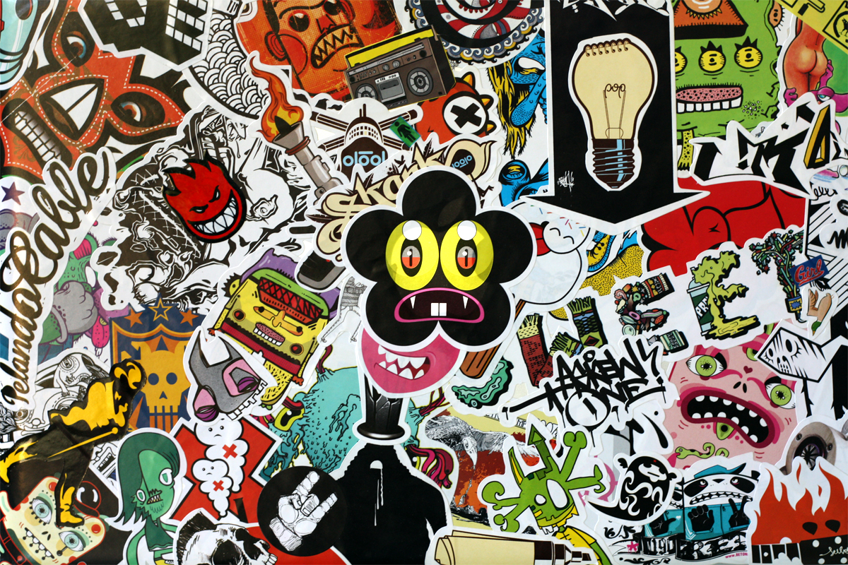 Macbook pro sticker bomb by afitiity on deviantart for Wallpaper decals