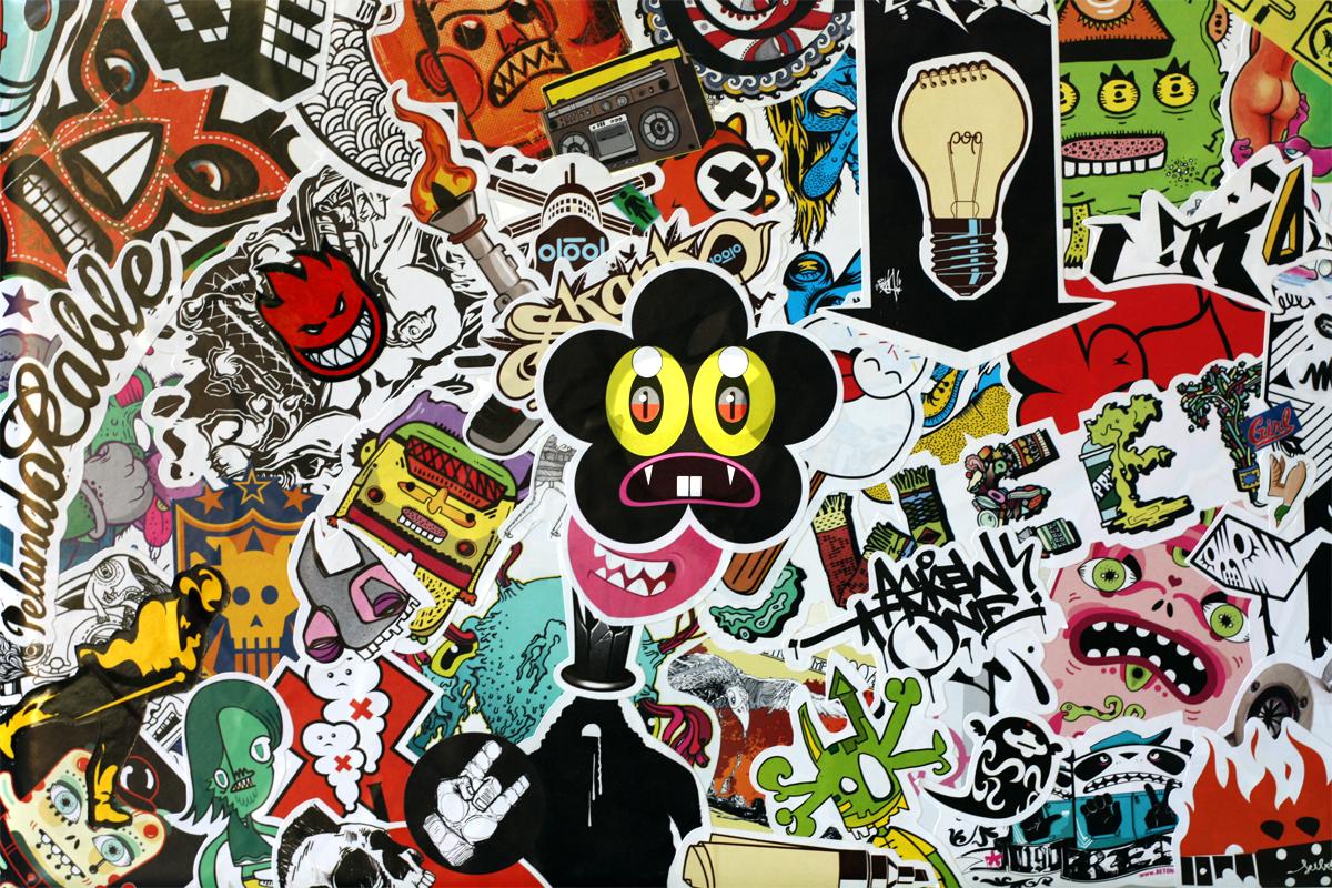 pro sticker bomb by afitiity traditional art street art stickers