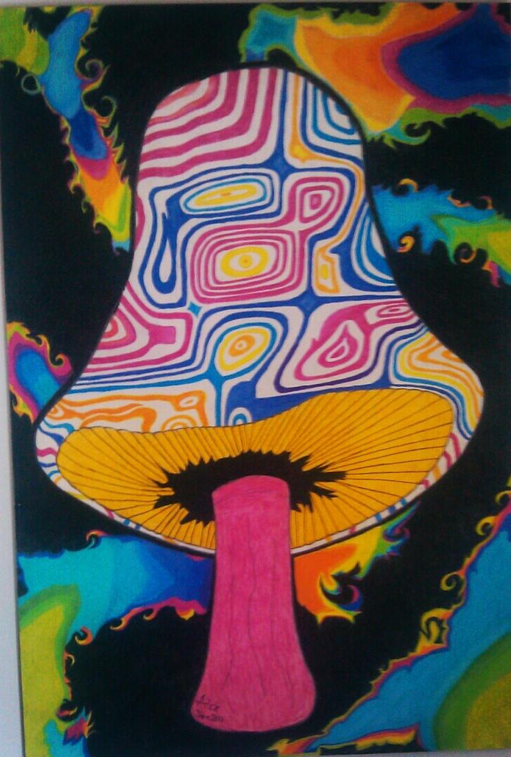 trippy shroom by travisaitch on deviantart