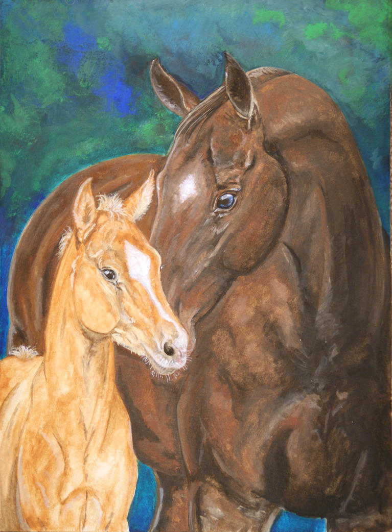 Mare and Foal by ClaireJouy