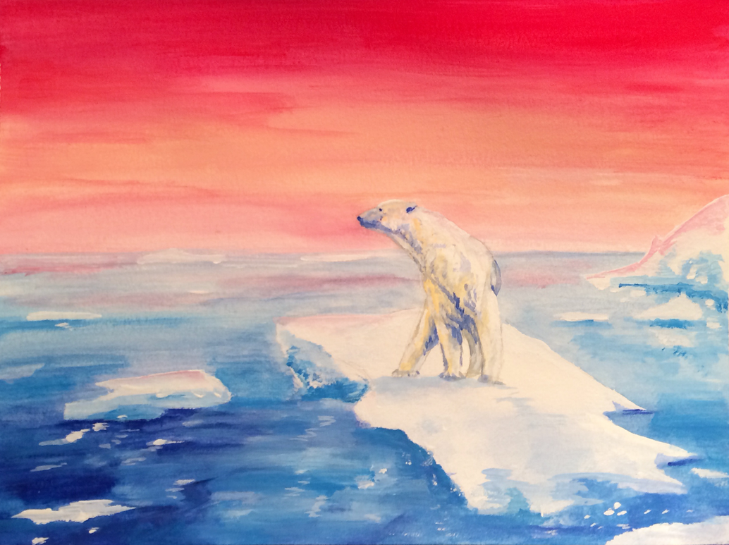 Polar Bear's contemplation by ClaireJouy