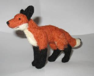 Needle felted fox by Fatkraken
