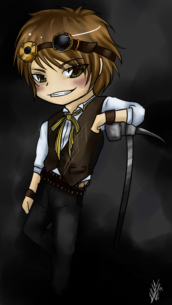 Cyrus Barrone Contest Prize Chibi by ModernMortalServices