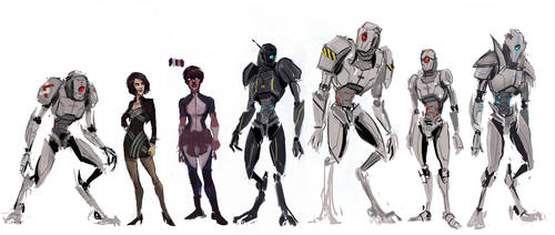Colour Character Sketches by Nonvieta