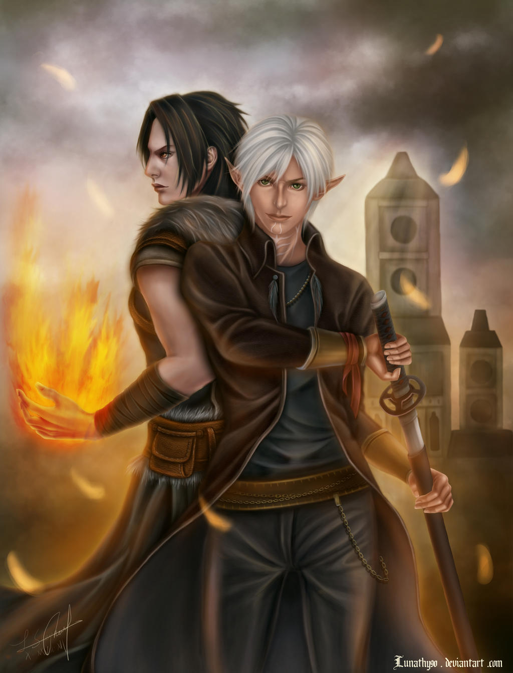 DA2 Fenris and Shiki Hawke-Who is the Leading man? by Lunathy90