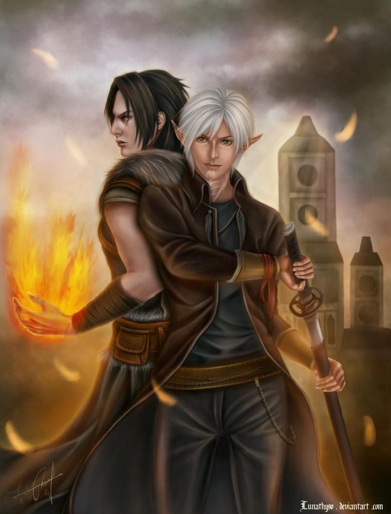 DA2 Fenris and Shiki Hawke-Who is the Leading man? by Lunathy90