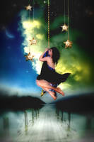 Night Sky Illuminated by MaeTan