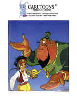 Aladdin and the Genie by CARUTOONS