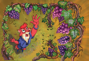 The fox and the grapes- lost by CARUTOONS