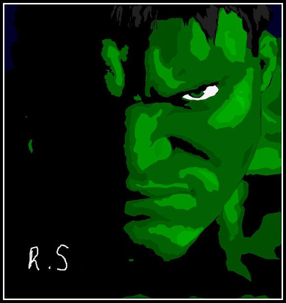 Hulk Silhouette Vector