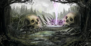Speed Painting: Skull forest II