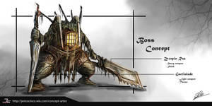 Dark Soul 3 x Bioshock Boss design