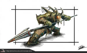 Dark Soul Inspired Creature Design by Jcinc1