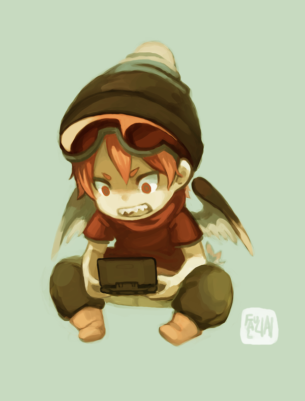 Chibi Gamer by faluu