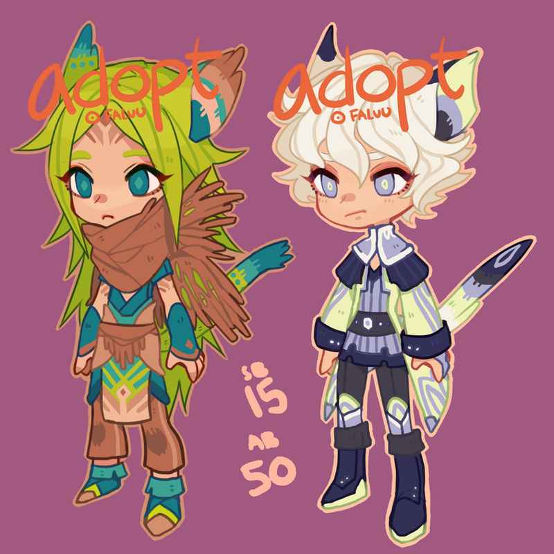 Adopts: more cats (closed) by faluu