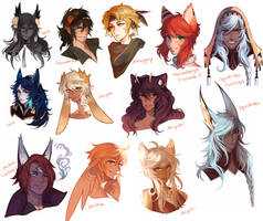 Headshot Commissions Compilation by ldn483