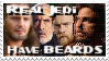 Stamp- Real Jedi have BEARDS by bidujador