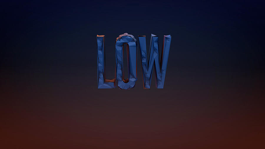 Low Poly Text Example by LifeEndsNow